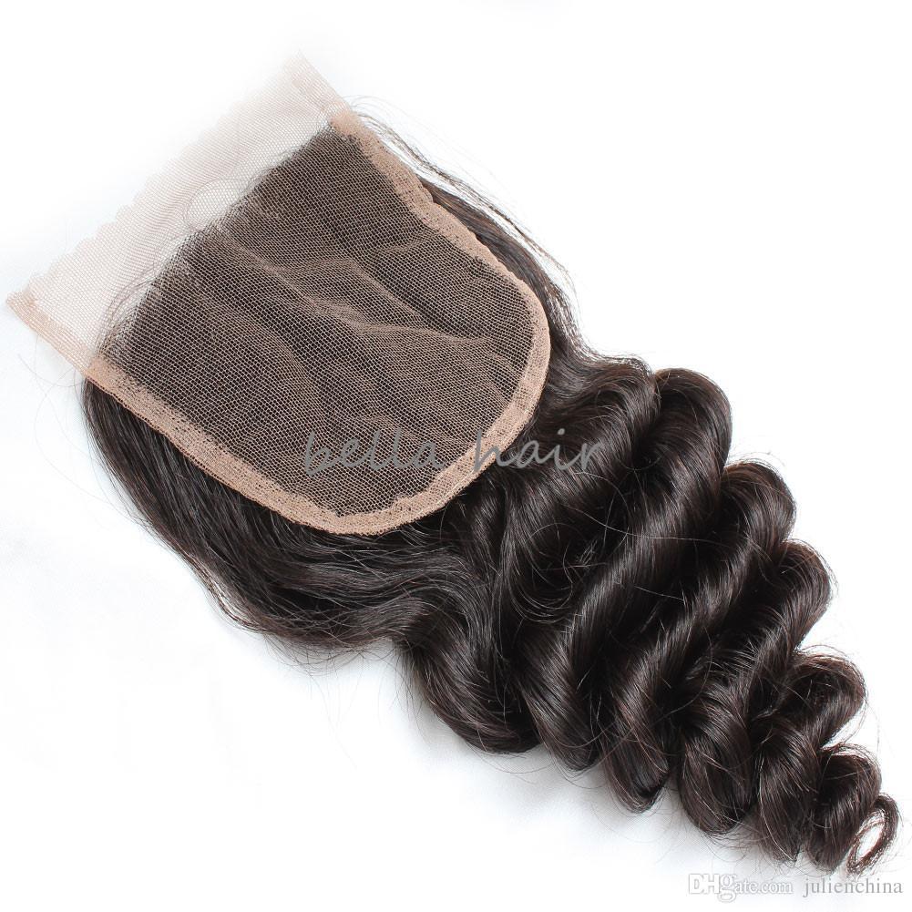 HD الدانتيل إغلاق فضفاض موجة أعلى سويسرية قطعة 100٪ غير المجهزة الشعر البشري الشعر شعري الطبيعي بيلاهير