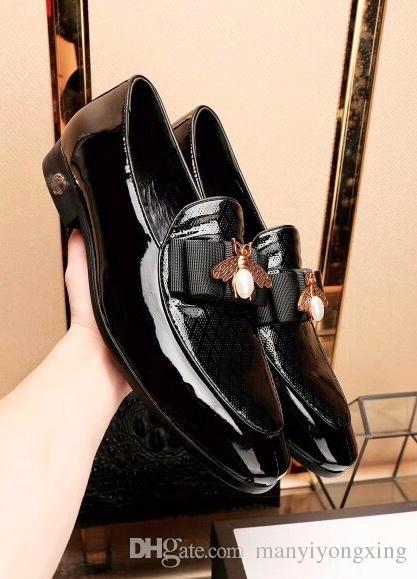 finest selection de0ee 120f6 Abendmode Herrenschuhe aus echtem Leder Herren Schuhe Kleid schwarz braun  italienische Mode Hochzeit männliche Schuhe