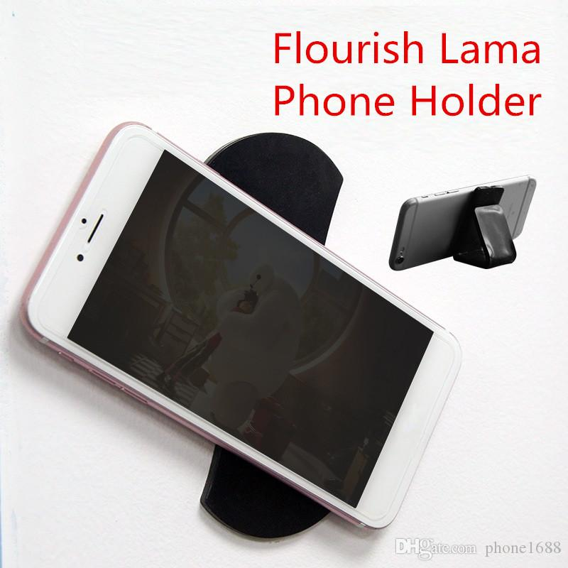 Convenient FLOURISH LAMA Wall Sticker For Mobile Phone Strong Repositional Stick POP Holder Car Mount Bracelet