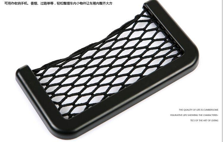 Новый черный автомобильная сетка органайзер карманы автомобильная сетка для хранения автомобильная сумка коробка клей козырек автомобильная сумка для инструментов мобильного телефона