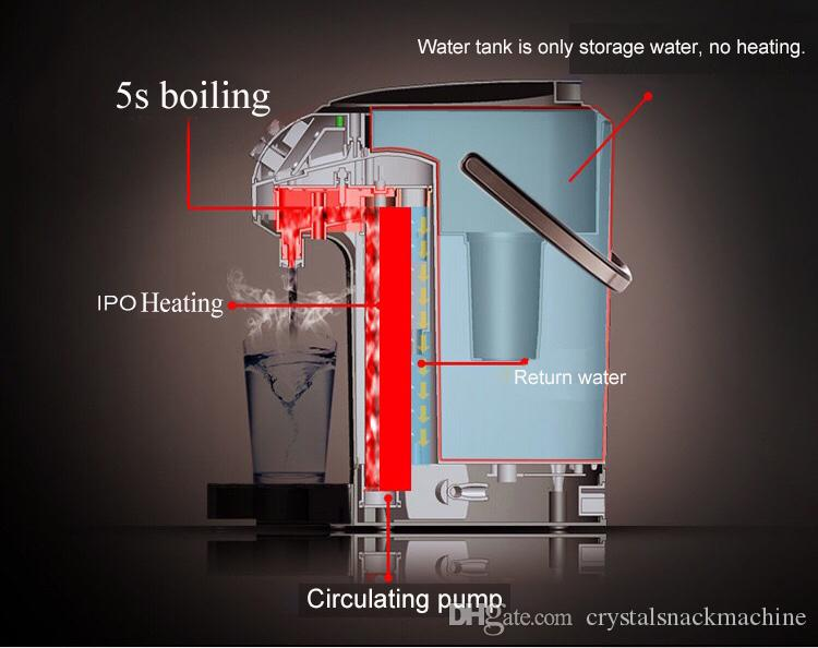 5s instant water heater 3.5L electric water dispenser hot cold water dispenser fast boiling electric kettle stainless steel drinking fountai