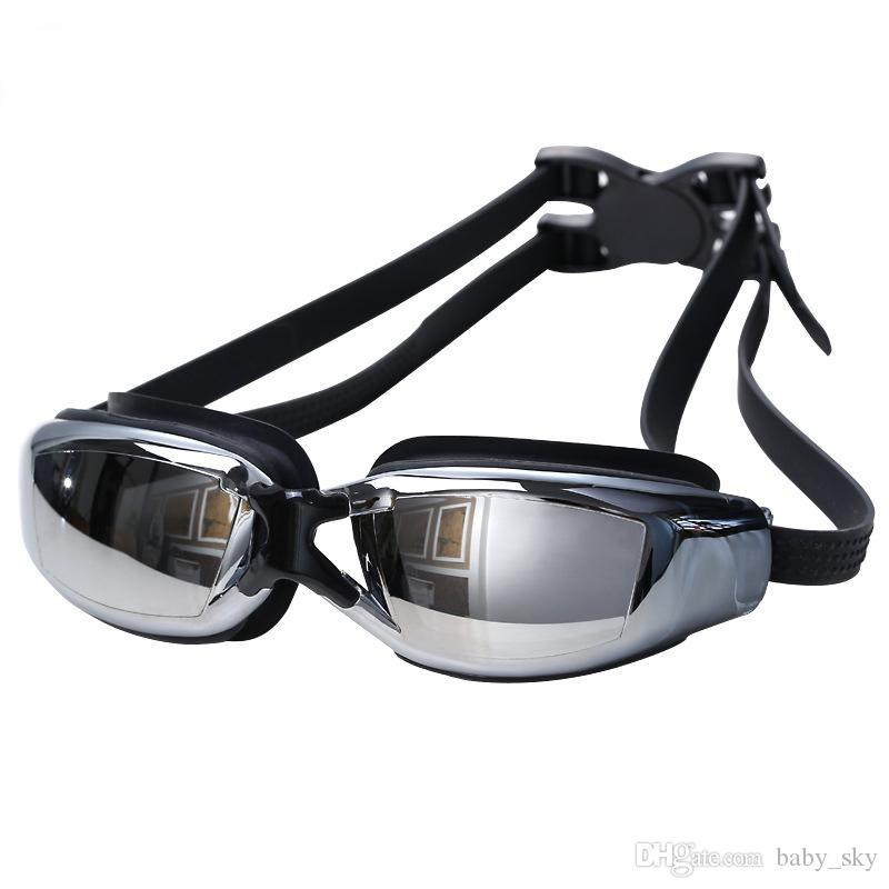 a7e2932d72f Swimming Tools Swim Goggles Glasses For Water Swimming Myopic Goggles Water  Sports Beach Swimming Electroplate Glasses Mens Womens Black Sunglasses  Online ...