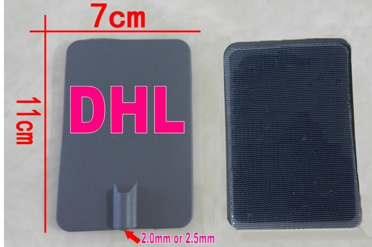 dhl 7*11cm Large TENS Electrode Long Life Silicone Rubber Pin Type Gel Pads