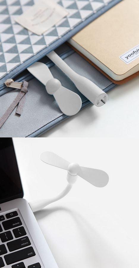 USB Fan Mini Портативный Энергосберегающий Регулируемый Гибкий для Power Bank PC Pad