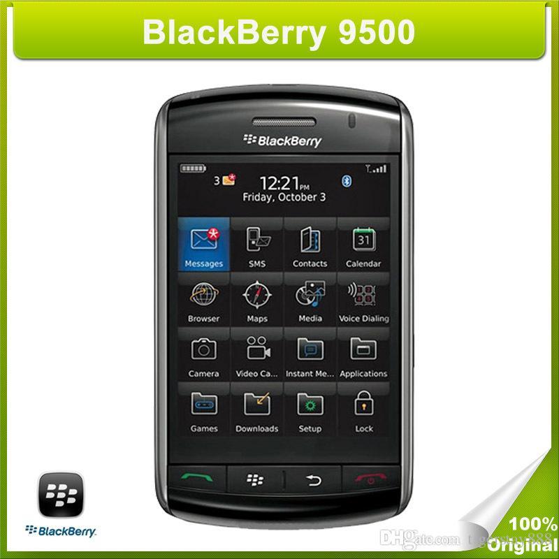 Original Blackberry 9500 recondicionado desbloqueado 3.2MP câmera wcdma gsm rede recondicionada celular
