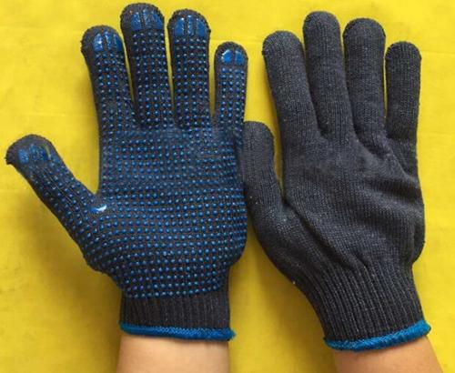 800G 10 Gauge Cotton PVC Dotted Protective Glove Anti-Skidding Wear-Resisting Safety Work Gloves PVC Working Glove