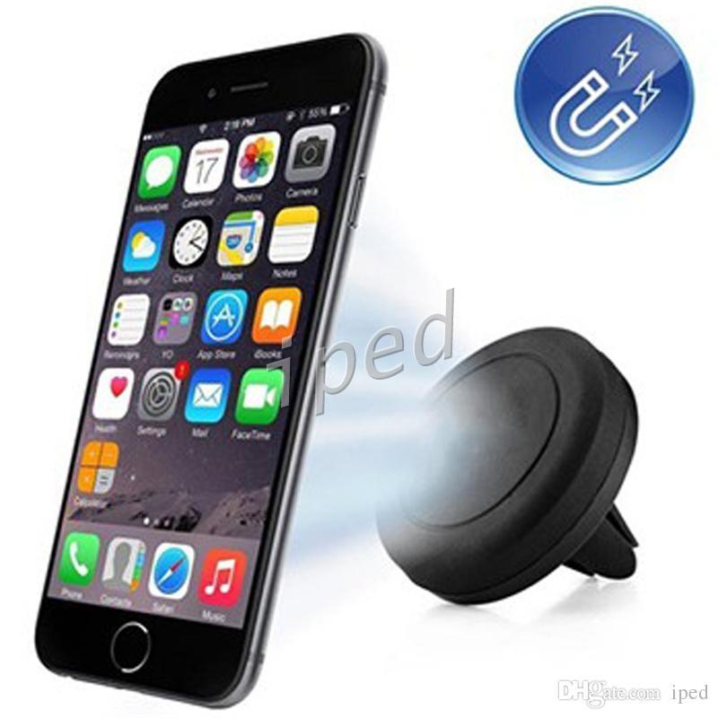Самые дешевые Магниты Кронштейн Универсальный Магнитный Автомобиль Air Vent Держатель Розетки Крепление Для iPhone Samsung Сотовый Телефон Держатели Держатели DHL Бесплатно 200 шт.