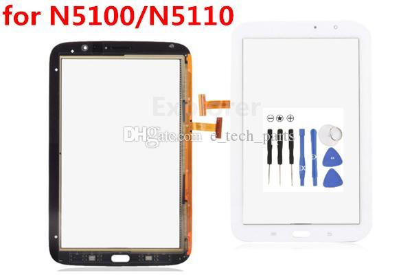 Samsung Galaxy Note 8 N5100 N5110 WiFi Beyaz Siyah Ücretsiz nakliye için test geçti Dokunmatik Ekran Sayısallaştırıcı Cam Fit