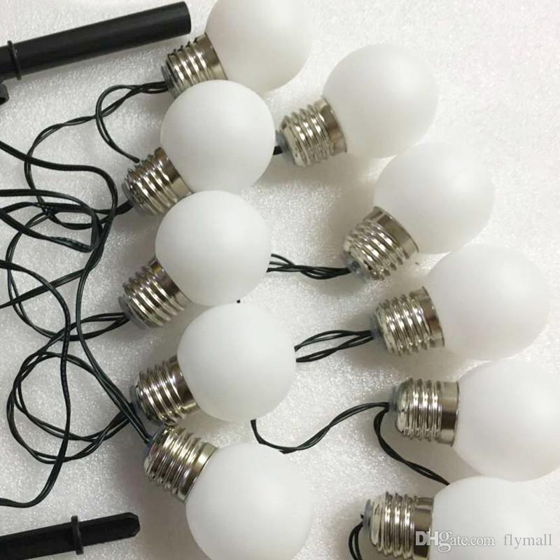 3 M 10 Leds G50 Ampuller Güneş Enerjili Dize Işık Su Geçirmez Led Küre Topu Dize Işık Çit / Veranda / Yard / Bahçe Beyaz / Sıcak Beyaz / RGB Işık