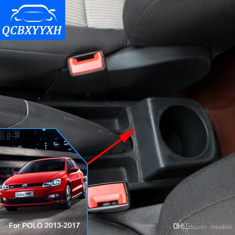 Для VW Polo 2013-2017 автомобилей стайлинг ABS с ПУ автомобиль подлокотник Центральный магазин Ящик для хранения контента с подстаканник пепельница аксессуары