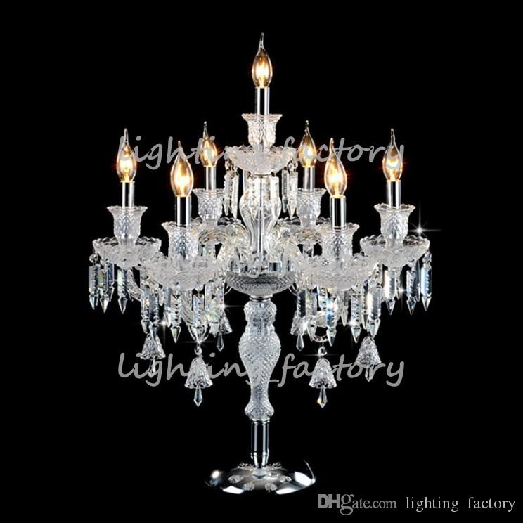 2018 Candelabra Table Lamp Crystal Table Light Crystal Table Lamp Bedside  Wedding Table Candelabra Led Desk Lamps Can Fabric Cover From  Lighting_factory, ...