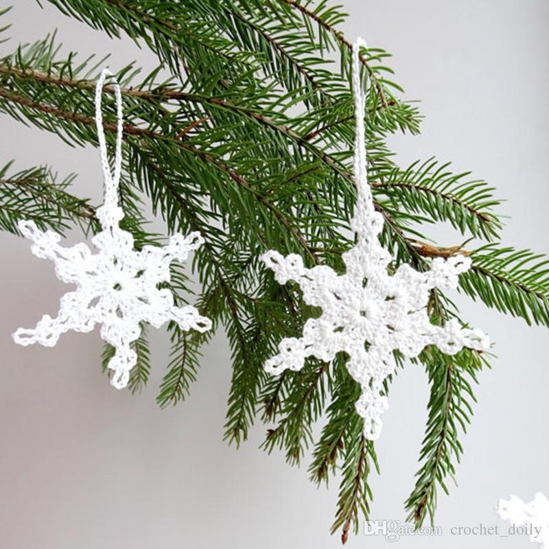 Acquista Decorazioni Lalbero Di Natale Alluncinetto A Mano