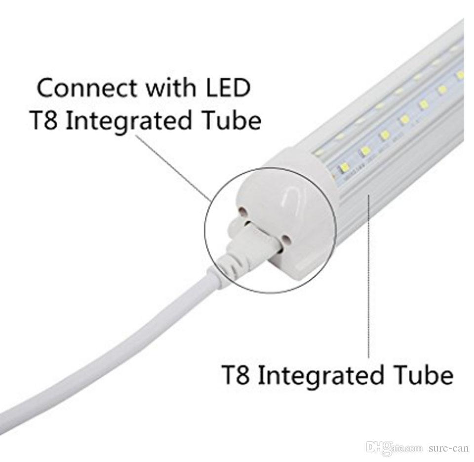 más barato 1ft 2ft 3ft 5ft Cable de extensión T5 T8 Cable de conexión Cable para cable integrado LED Tubo fluorescente Envío gratuito de DHL