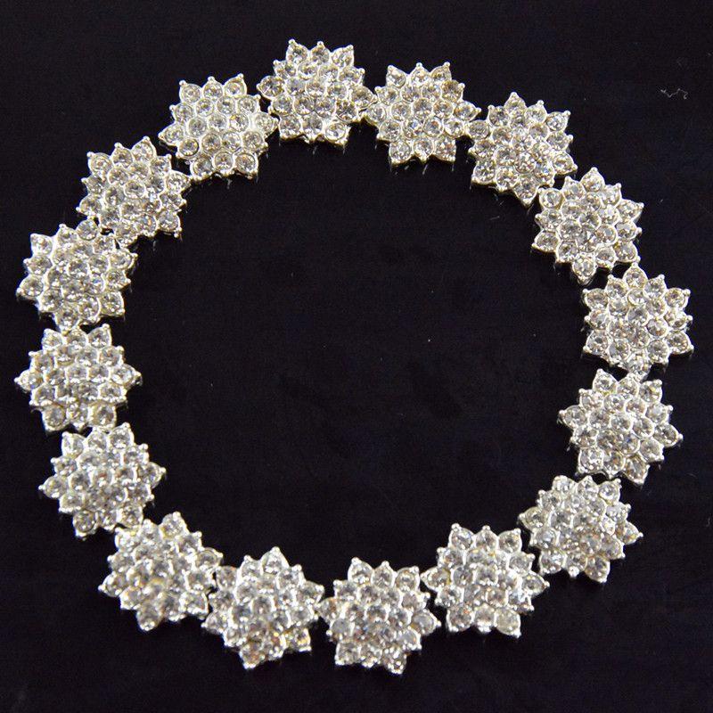 Großhandels-/ flacher rückseitiger Kristallrhinestone-Knopf für Haar-Blumen-Hochzeits-Einladung, Rhinestone Applique-Zusätze geben Verschiffen frei