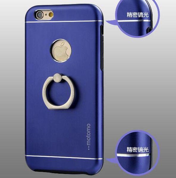 Motomo TPU + PC + Metal + supporto asta porta disco rigido Cover posteriore iPhone 5 6 7, 6plus 7plus