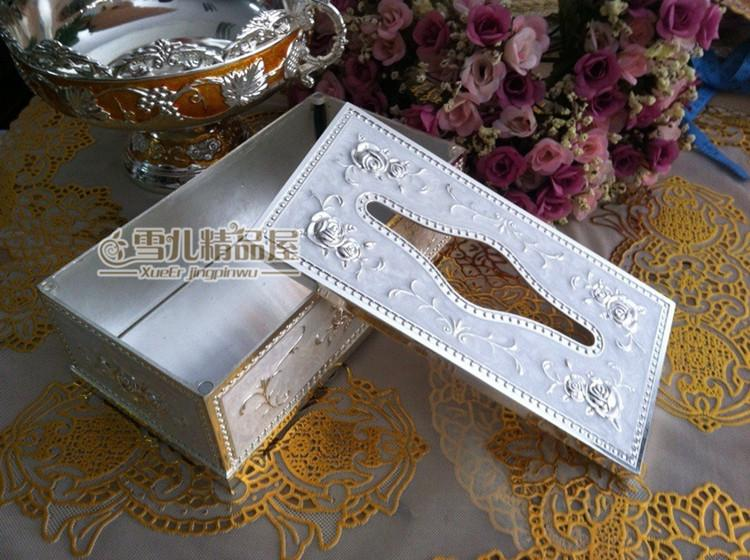 Special offer shipping continental carved paper towel box white metal silver napkin paper towel tube hotel supplies