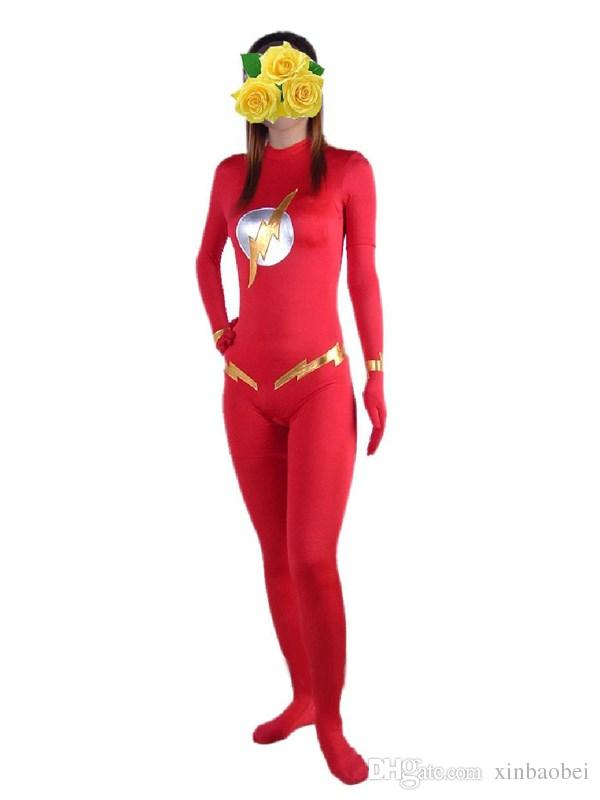 cartoon clothing foreign trade red spandex Lycra Zentai sexy Halloween costume dress performance stage props
