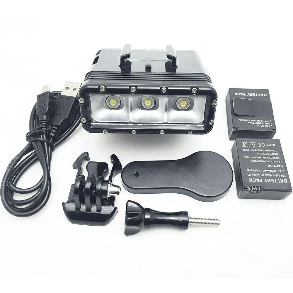 GoPro Diving flash Light Spot lamp Underwater Waterproof LED Flash Video Light For GoPro Hero 54Session SJCAM Xiaomi Yi 2 4K (3)