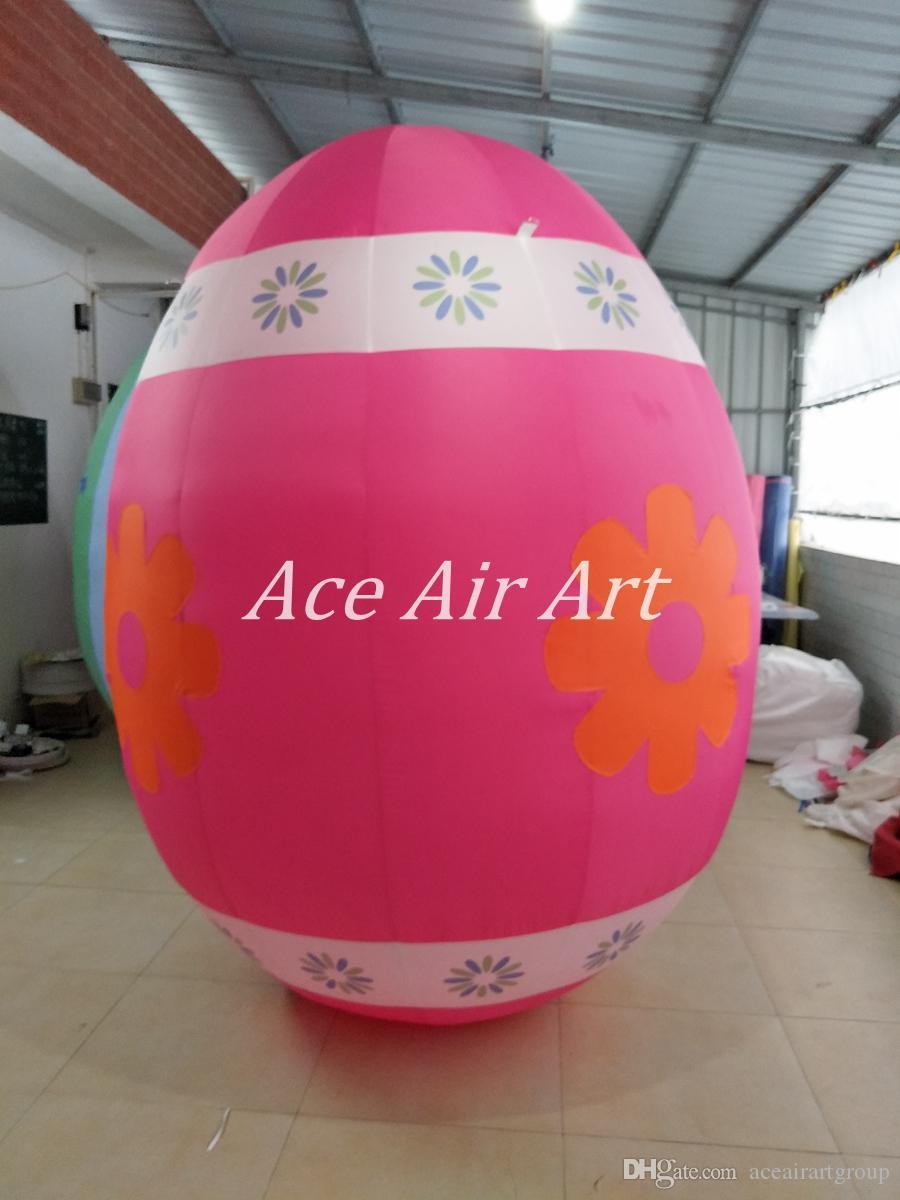 Fábrica de tecido de Oxford diretamente bonito ovos infláveis de decoração de páscoa ao ar livre