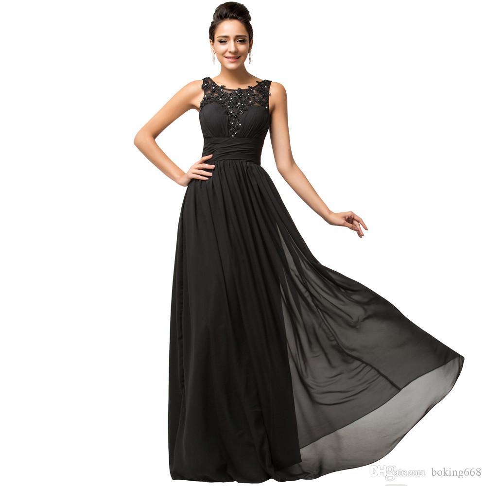 Vestidos de fiesta largos negros