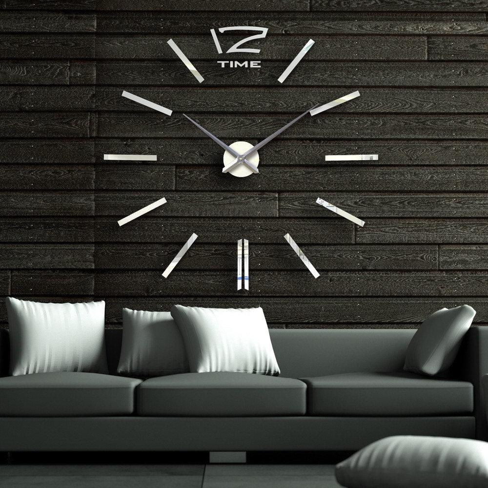Cool wall clocks online cool digital wall clocks for sale super deals 40 inch modern 3d mirror wall clock diy room home decor bell cool mirror sticker big watch amipublicfo Image collections