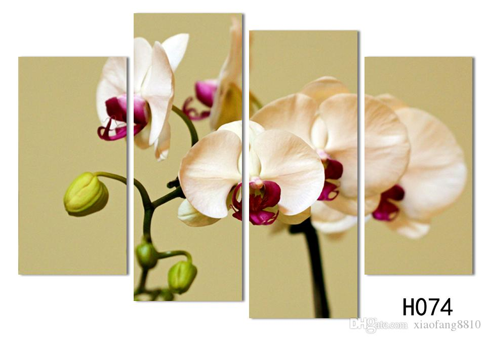 Wall Art No Framed Modern Abstract HD Flower Orchid Picture image Oil Painting On Canvas For Home Decor picture