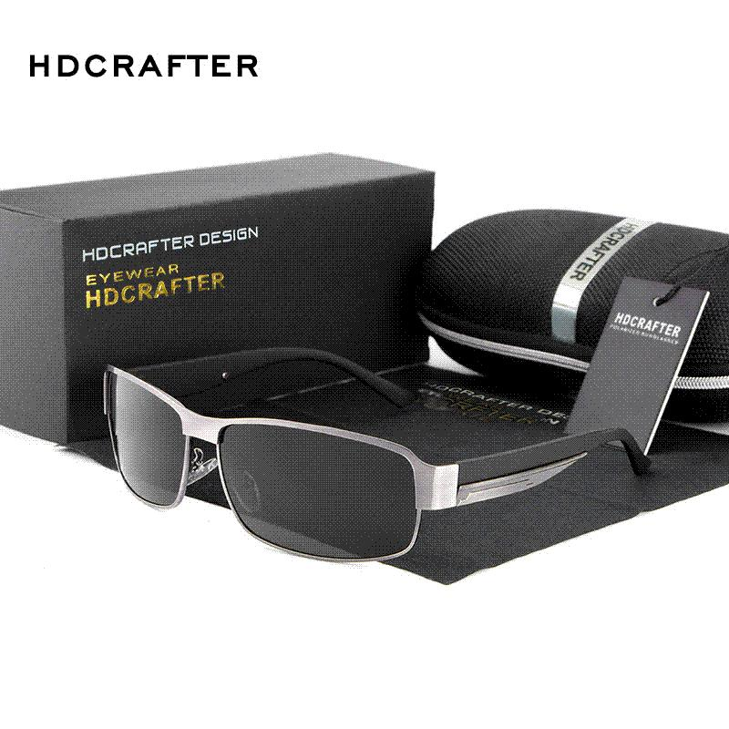 4b567e07615 HDCRAFTER Fashion Driving Sun Glasses for Men Polarized Sunglasses ...