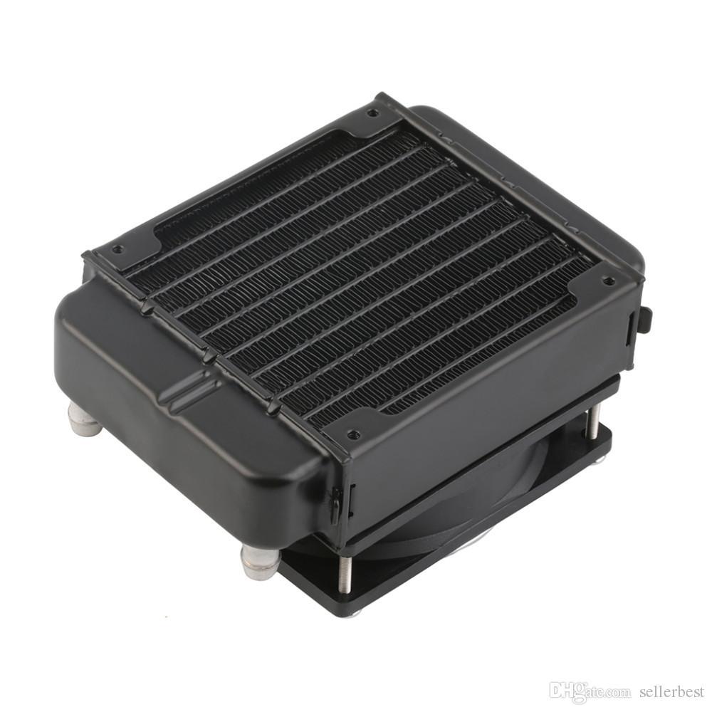 90мм водяного охлаждения процессора кулер ряд теплообменник радиатор с вентилятором для ПК оптом