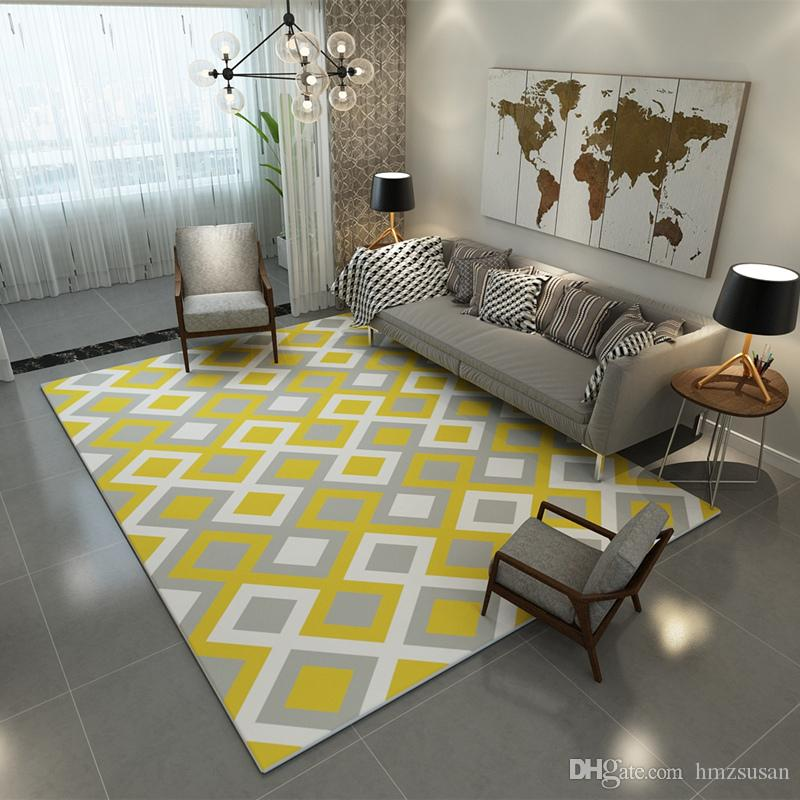 Europe Large Area Carpets Rugs Living Room Carpet Suede Mats Geometric  Rectangle Carpet For Bedroom Decoration Carpet