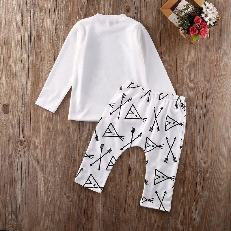 Baby Clothing Set Toddler Outfit Boutique Ragazzi Abbigliamento Set Infant Cotton autunno Autunno Costume a maniche lunghe Ragazzi Camicia Legging Pants