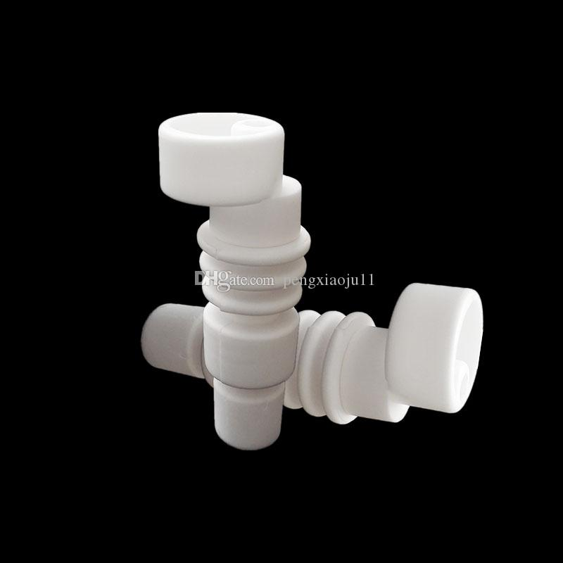 Domeless Male Ceramic Nail 14mm & 18mm Bong Tool Set With Ceramic Carb Cap Tool Slicone Jar Container For Glass Water Pipes