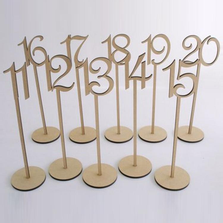 нового прибытие деревенского мешковину свадьба украшение стола деревянного стол свадебного стенд держатель номер партия номер таблица теги