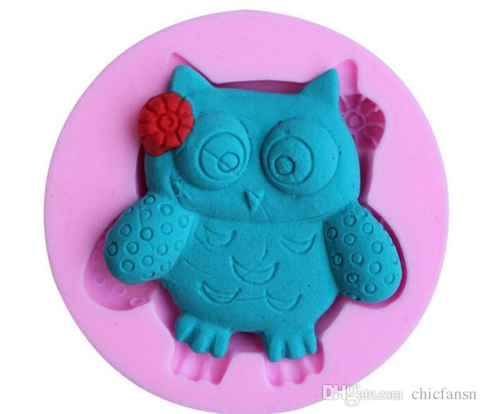 Grosshandel Eule Kuchen Formen 4 Stuck Ein Set Rosa Silikon Fondant