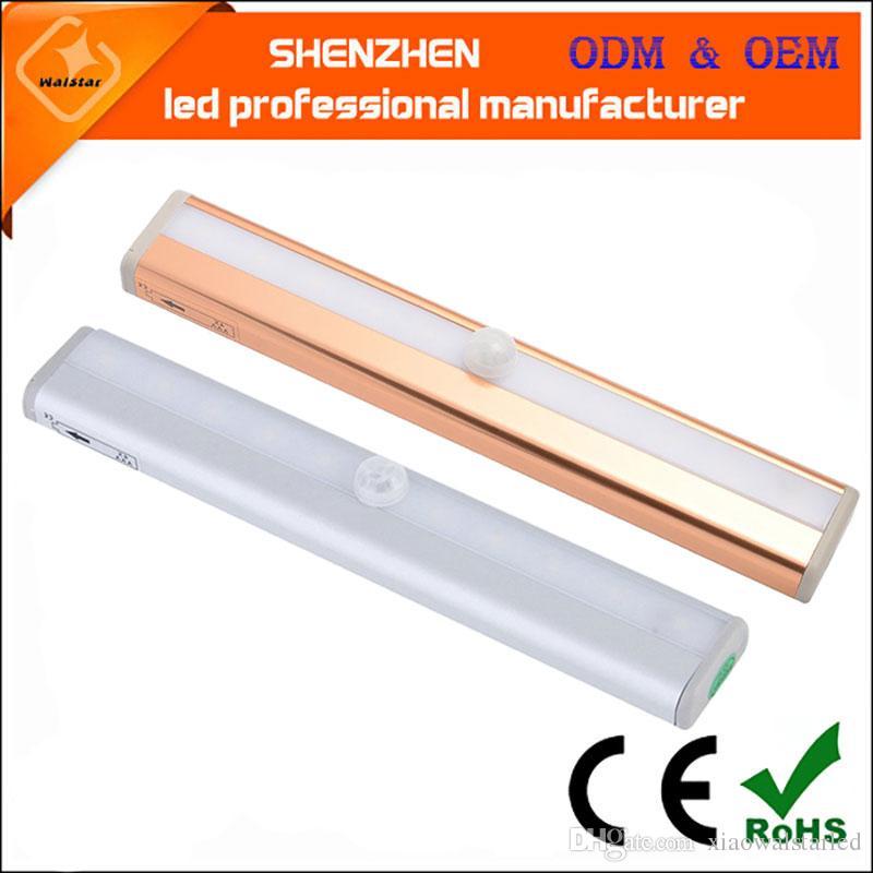 LED Human Motion Aktiviert PIR Lichtsensor Badezimmer WC Lampe LED  Nachtlicht Bewegung aktiviert Licht Bewegung AAA Batterie betrieben  LED-Lampe