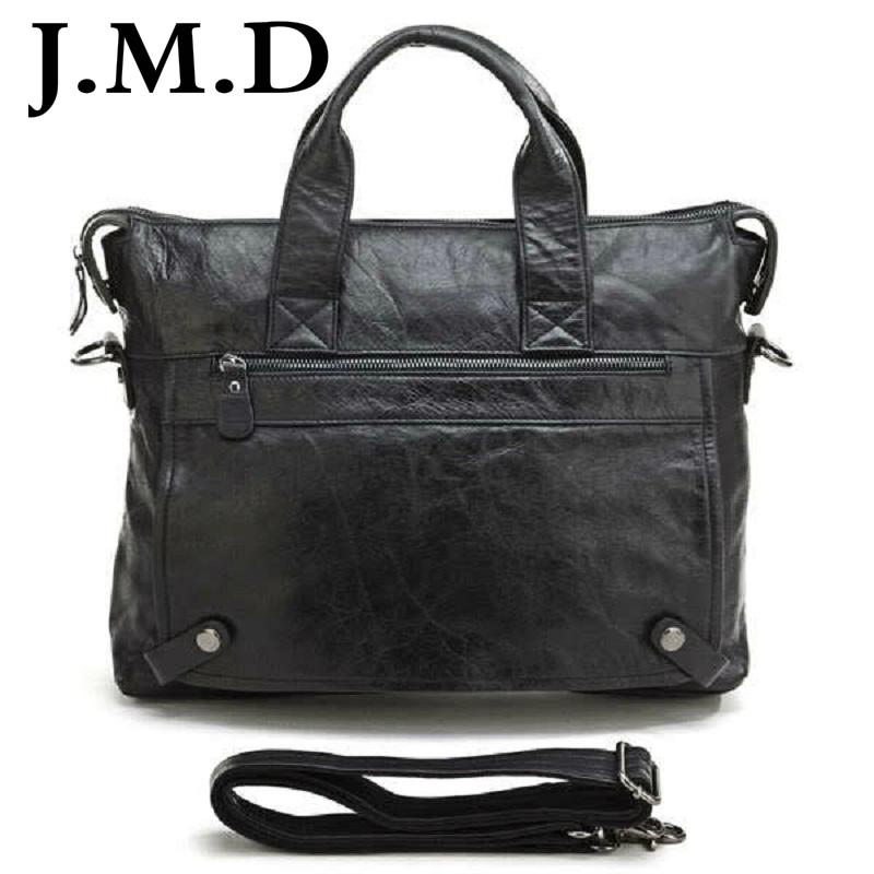 8cc3b3abc968 Wholesale J.M.D 2017 Fashion Black Leather Hand Bag Men Genuine Leather  Messenger Bag Briefcase Laptop Bag Shoulder Bags 7120 Brief Case Mens  Leather Bags ...