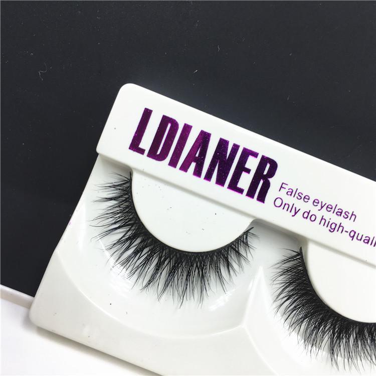 3D False Eyelashes Handmade Natural Hair Long Thick Mink Fur Eyelash Fake Eye Lashes Extensions Black Strip Lash High Quality LD204 Free DHL
