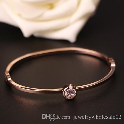 Fashion 18k Rose Gold Filled Austrian Crystal Classic LadyS