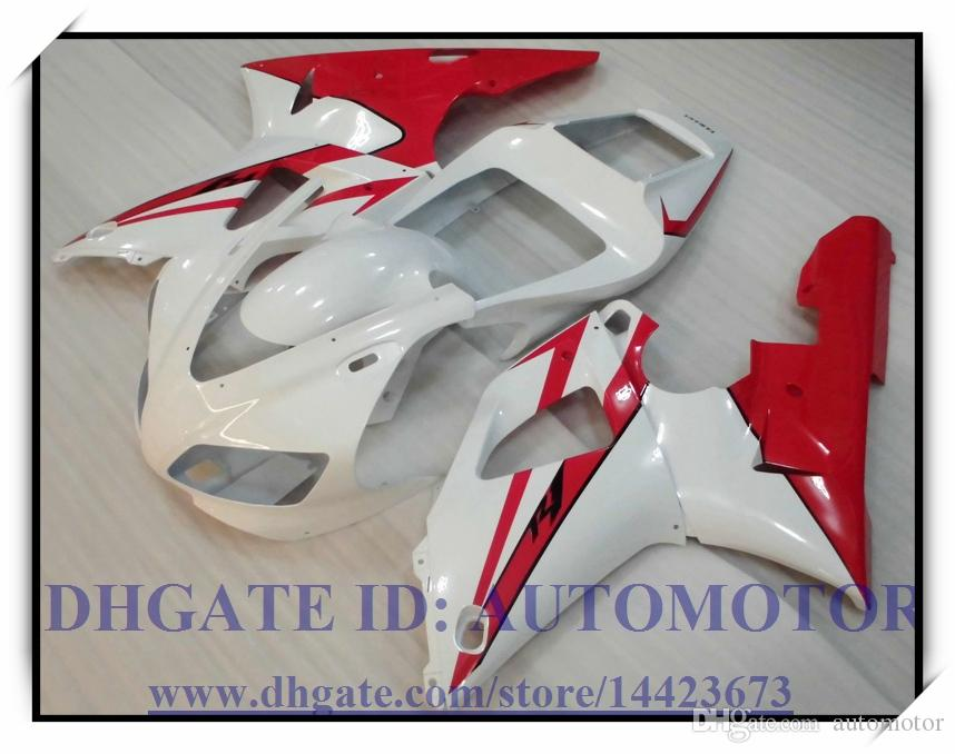 WHITE RED INJECTION BRAND NEW FAIRING KIT 100% FIT FOR YAMAHA YZFR1 1998 1999 YZF R1 98 99 YZF1000 YZF R1 1998-1999 #AO022