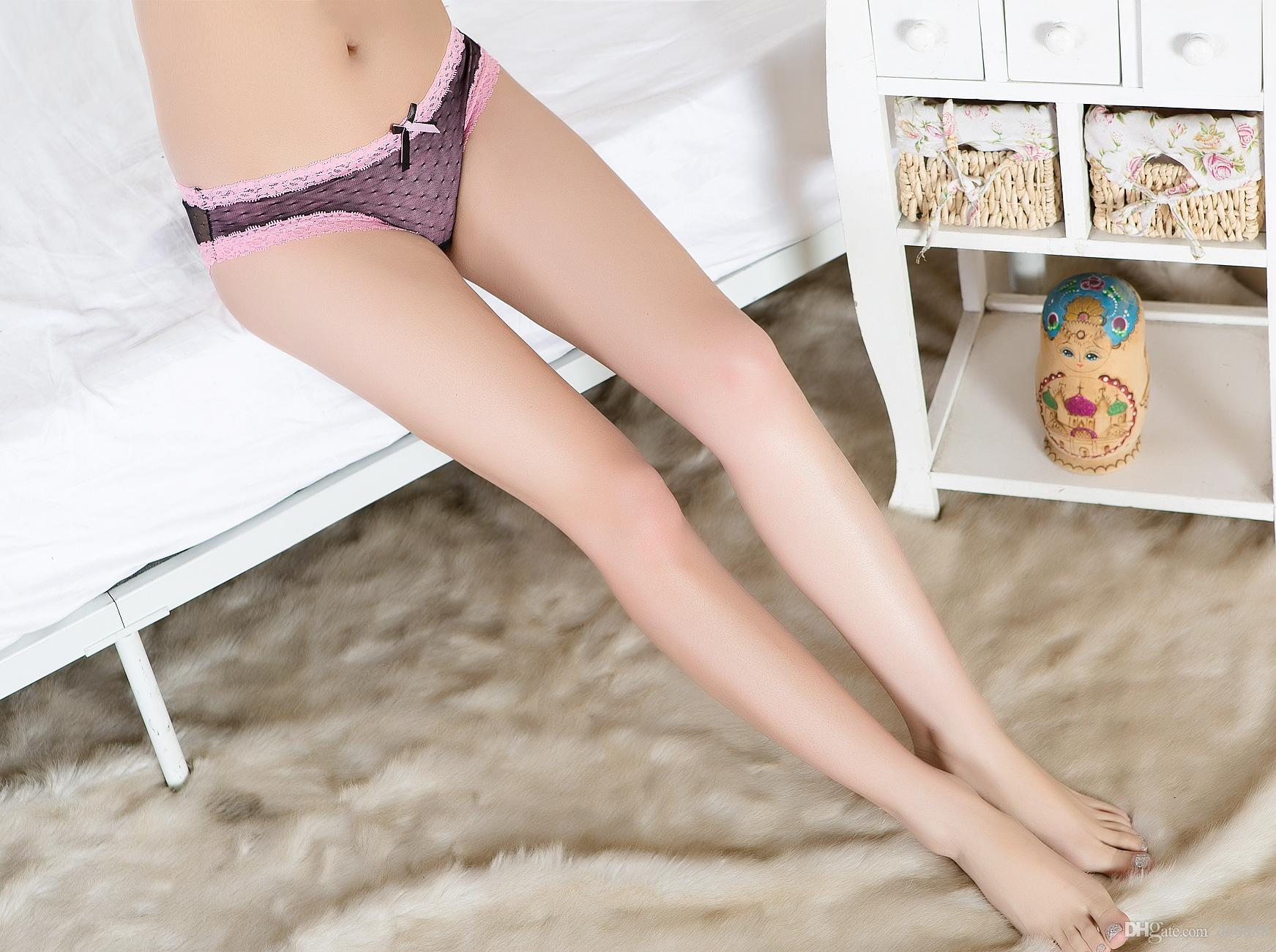 2017 2016 New Women Lady Sexy Panties See Through Underwear Bow ...