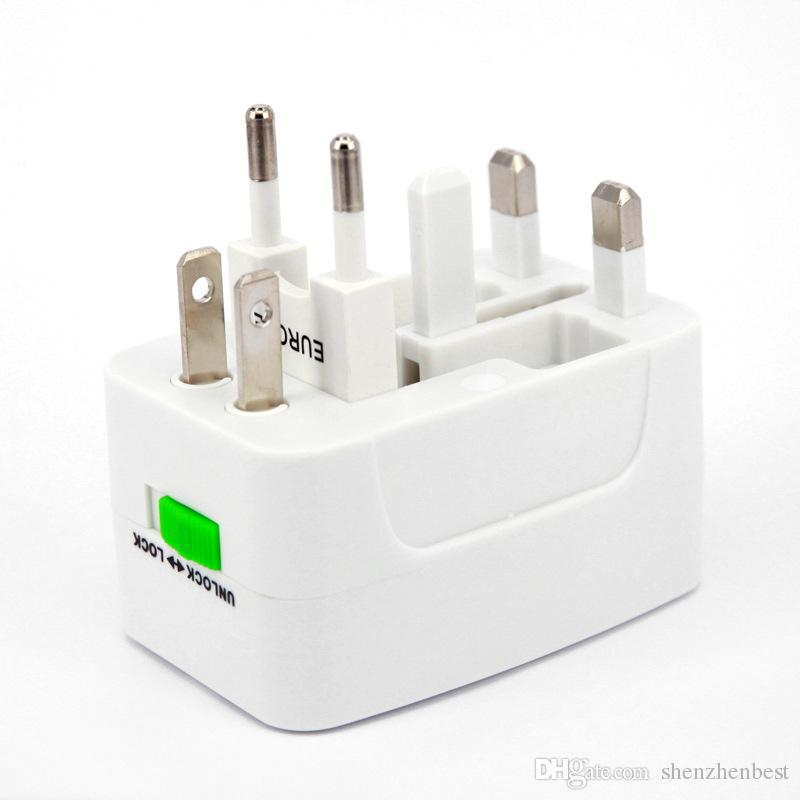 Wholesale 200psAll in One Universal Plug Adapter World Travel AC/DC Power Socket Charger Adaptors with AU US UK EU Converter plug