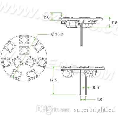 10 LED G4 Ronda Luz Junta SMD 5050 Amplia Volt 12 V CC 12 V CA de 24 V CC de 24 V CA Volver Pin blanco caliente blanco