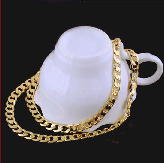 솔리드 14K 옐로우 골드 남성 목걸이 체인 생일 발렌타인 선물 가치가 100 % 진짜 금이 아닌 고체하지 돈.