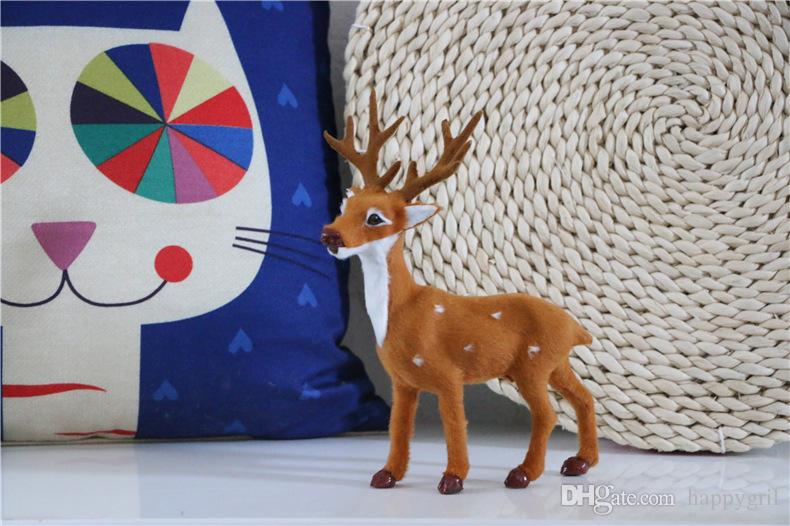 Home Decoration Animal Model Simulation Deer Plush Toy Staffed Sika Deer Toy for Kids Baby Doll Children's Birthday Gift