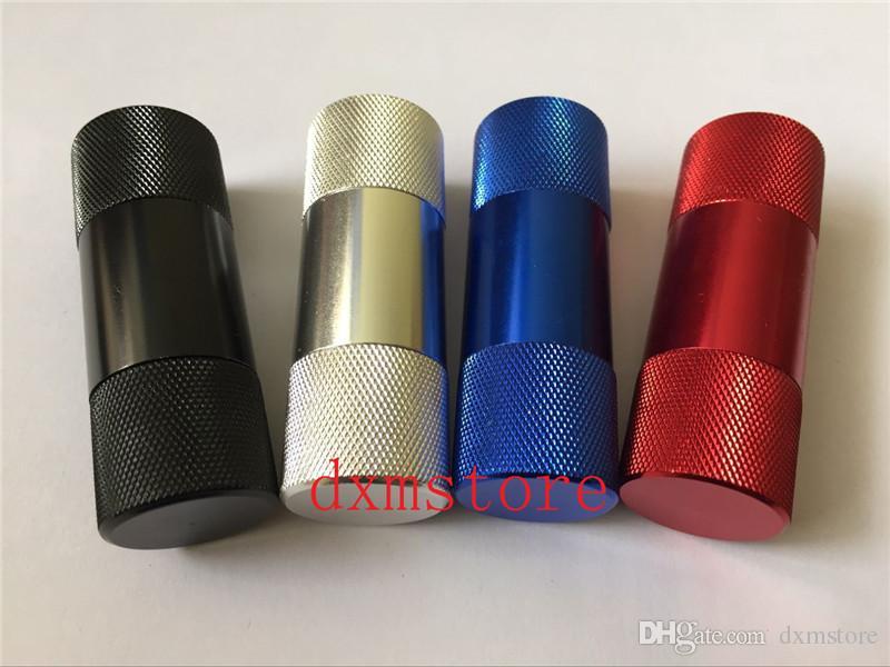 높은 품질의 담배 꽃가루 프레스 알루미늄 합금 금속 믹스 색상 피프스 그라인더 담배 향신료 압착기 흡연 액세서리 r에 대한