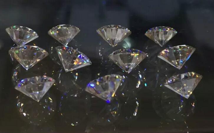 معظم رائعة F اللون 6.5MM شكل دائري الأبيض الأحجار المويسانتي الاصطناعية فضفاض الأحجار الكريمة مويسانيتي الماس اختبار إيجابي