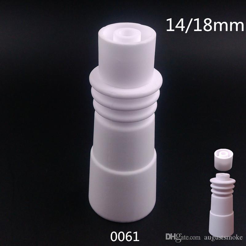 Wholeslae Haute qualité 14mm 18mm Clous en céramique sans dôme avec anneau chauffant Joint Homme Mâle Céramique bouchon en carb céramique clou en céramique VS clou en titane