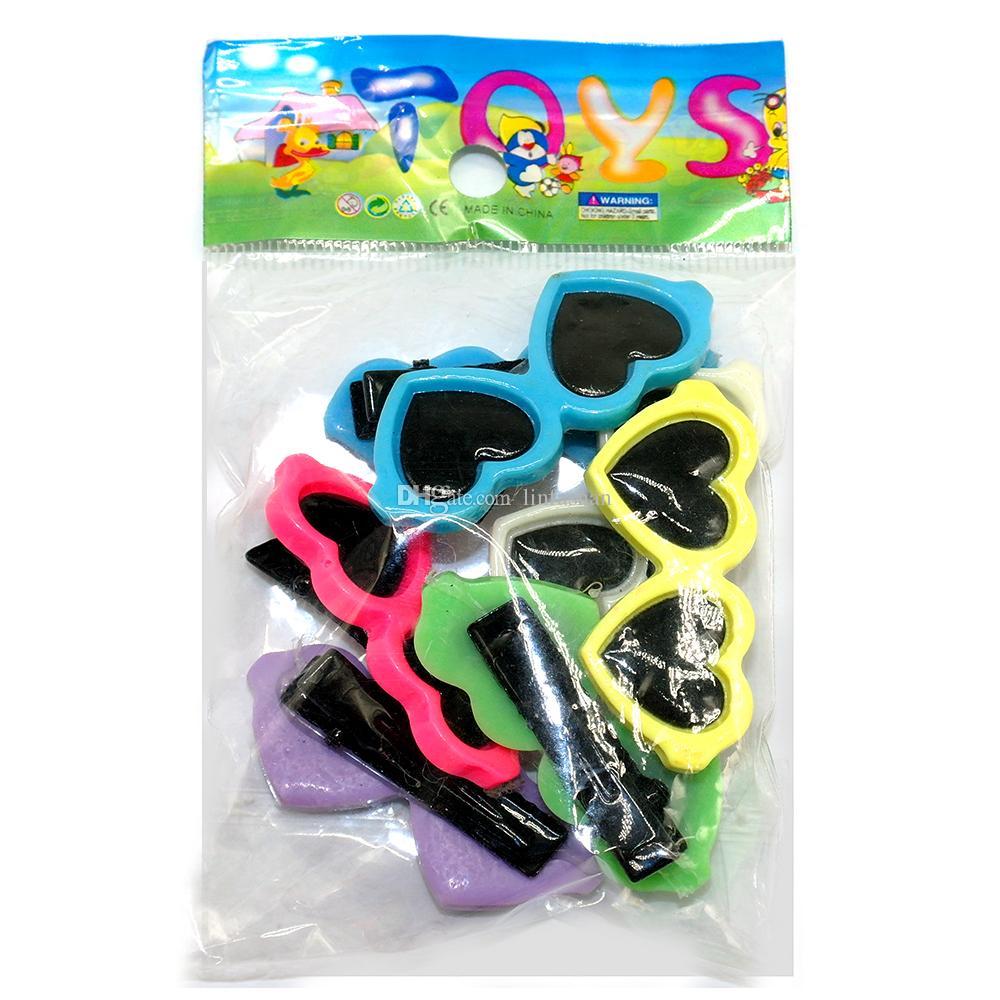 Wholesale Cute Sunglass Shape Dog Puppy Hair Clips Kitten Hair Bows Pet Hairpin Grooming Accessories