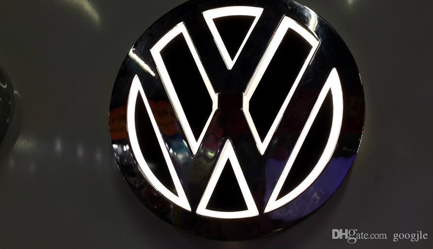 Lampada LOGO LED 5D LED 110mm VW Golf Magotan Scirocco Tiguan CC Bora Badge Badge Badge LED Simboli Lampada Auto Emblema posteriore