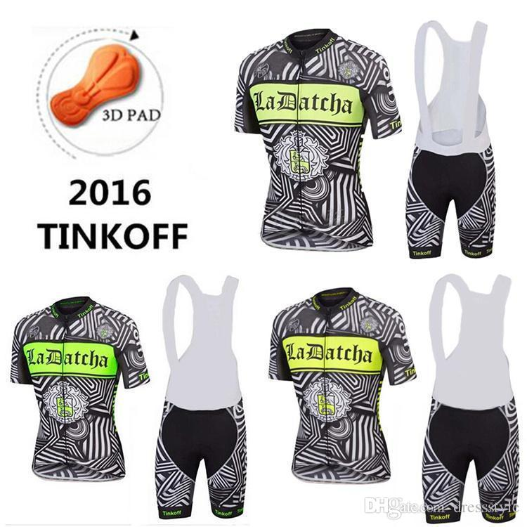 2016 Tinkoff Saxo Bank Cycling Jerseys Short Sleeves Shirt+White Bib ... 37a250605