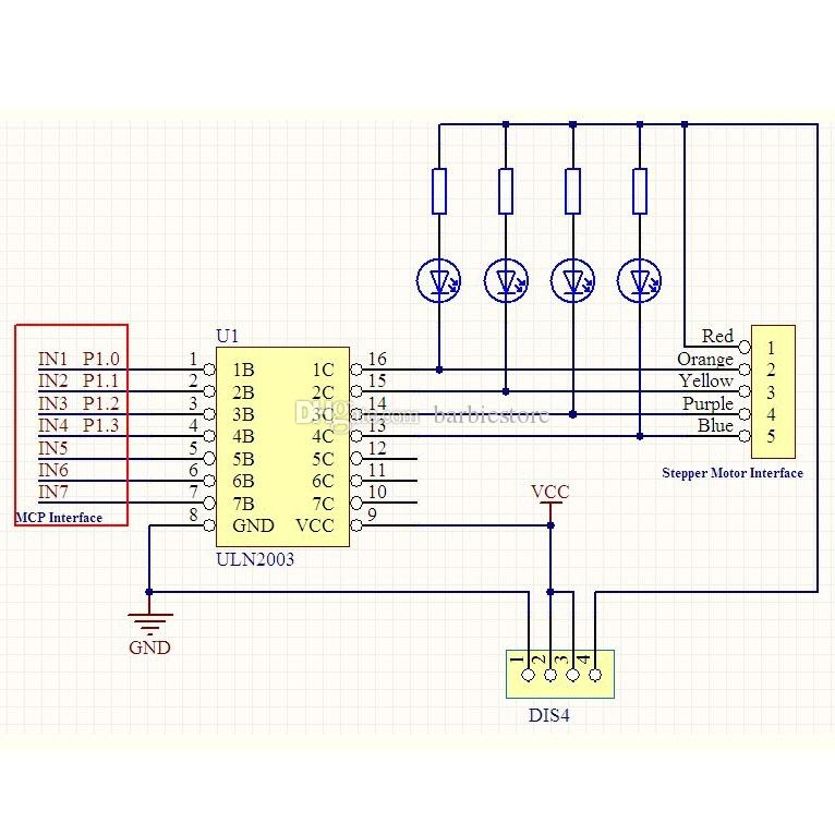 5-V-Schrittmotor 28BYJ-48-Antriebstestmodulplatine ULN2003 5 Leitung 4 Phase B00301